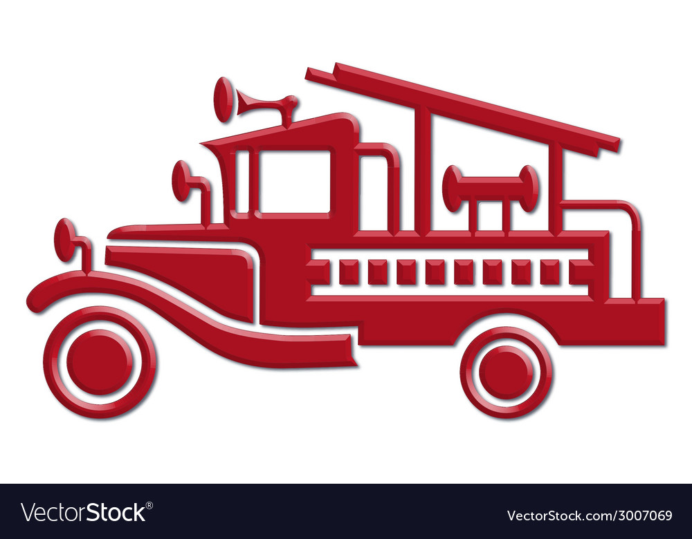 Fire truck car icon vector | Price: 1 Credit (USD $1)
