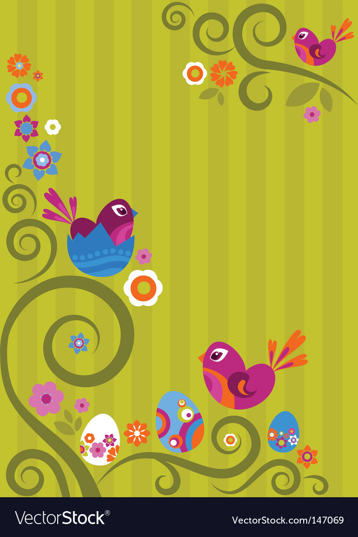 Floral easter graphic design vector | Price: 1 Credit (USD $1)