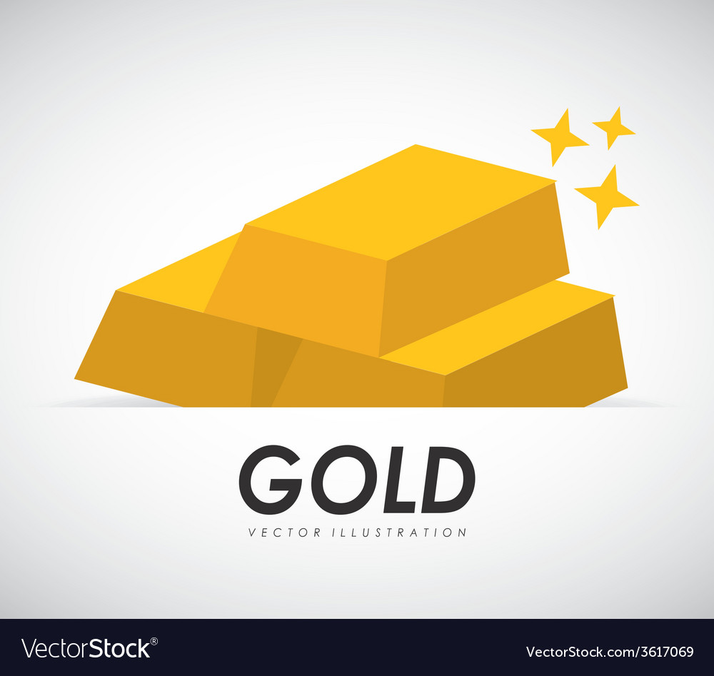 Gold bars vector | Price: 1 Credit (USD $1)