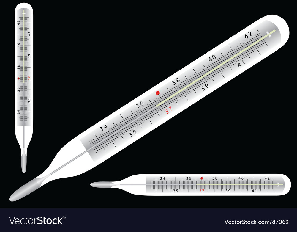 Thermometer icons vector | Price: 1 Credit (USD $1)