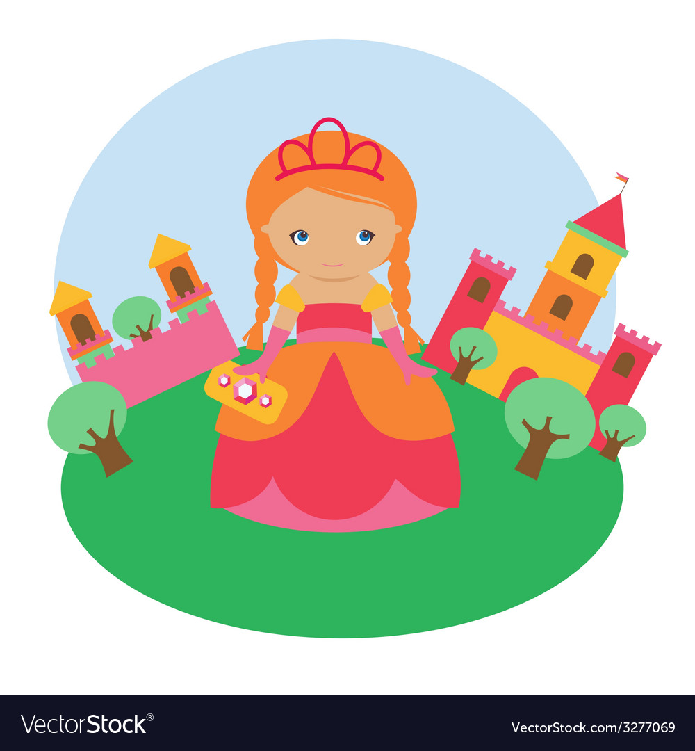 Princess character vector | Price: 1 Credit (USD $1)