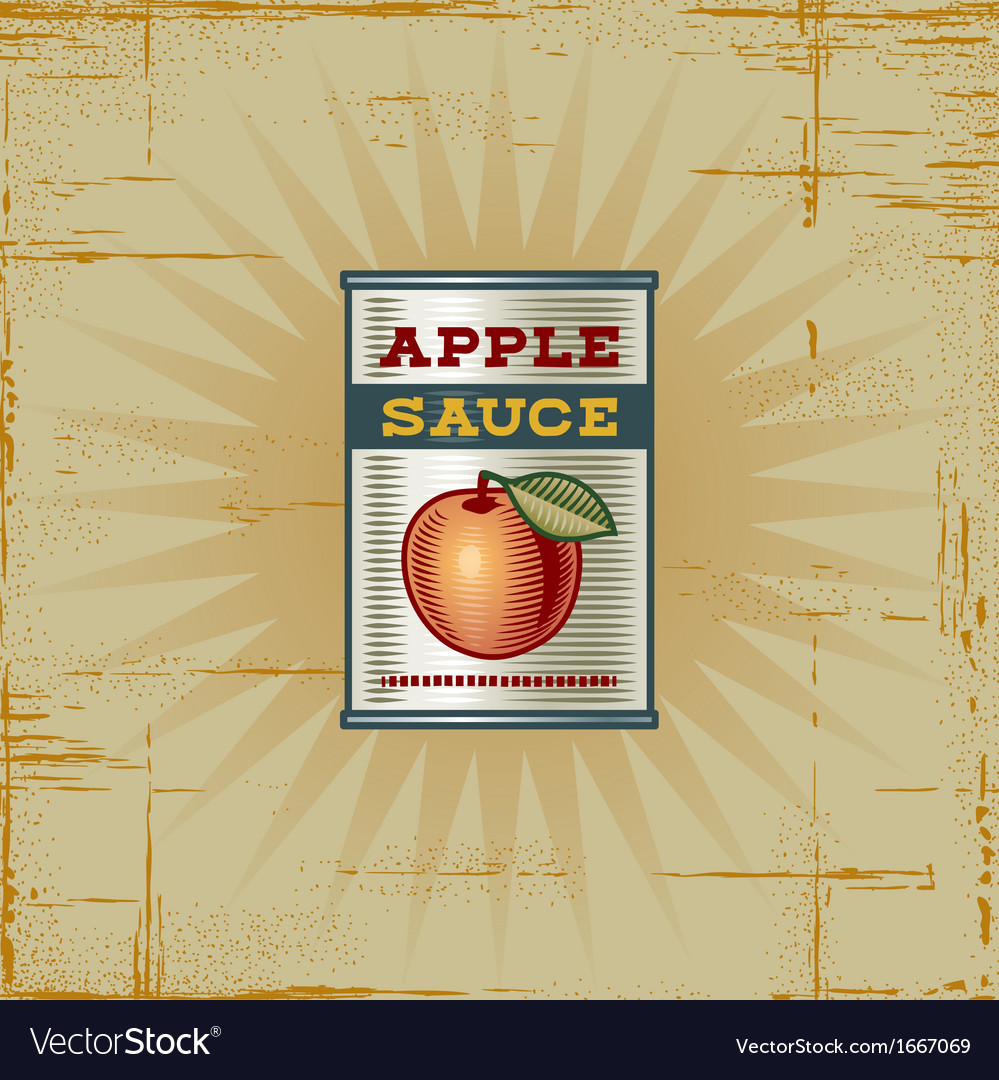 Retro apple sauce can vector | Price: 1 Credit (USD $1)