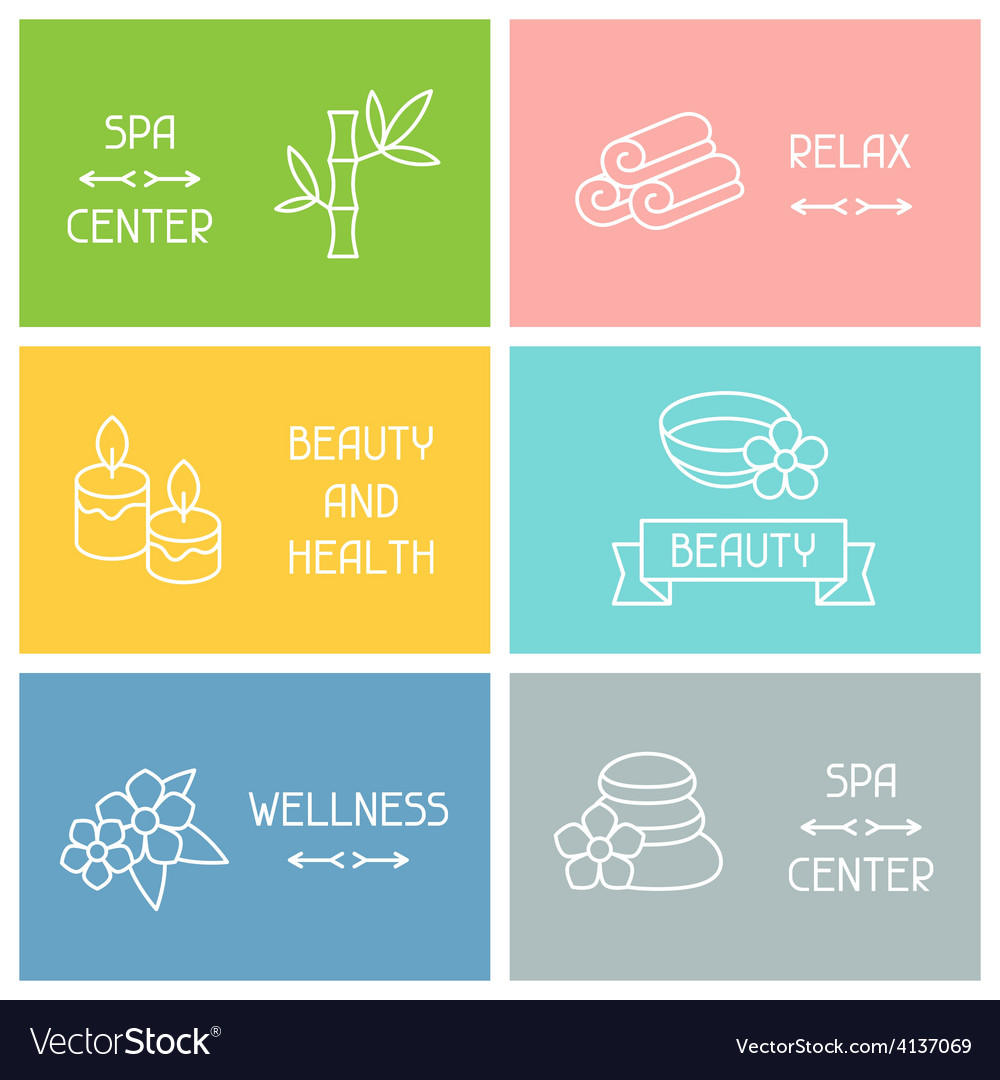 Spa and recreation business cards with icons in vector | Price: 1 Credit (USD $1)