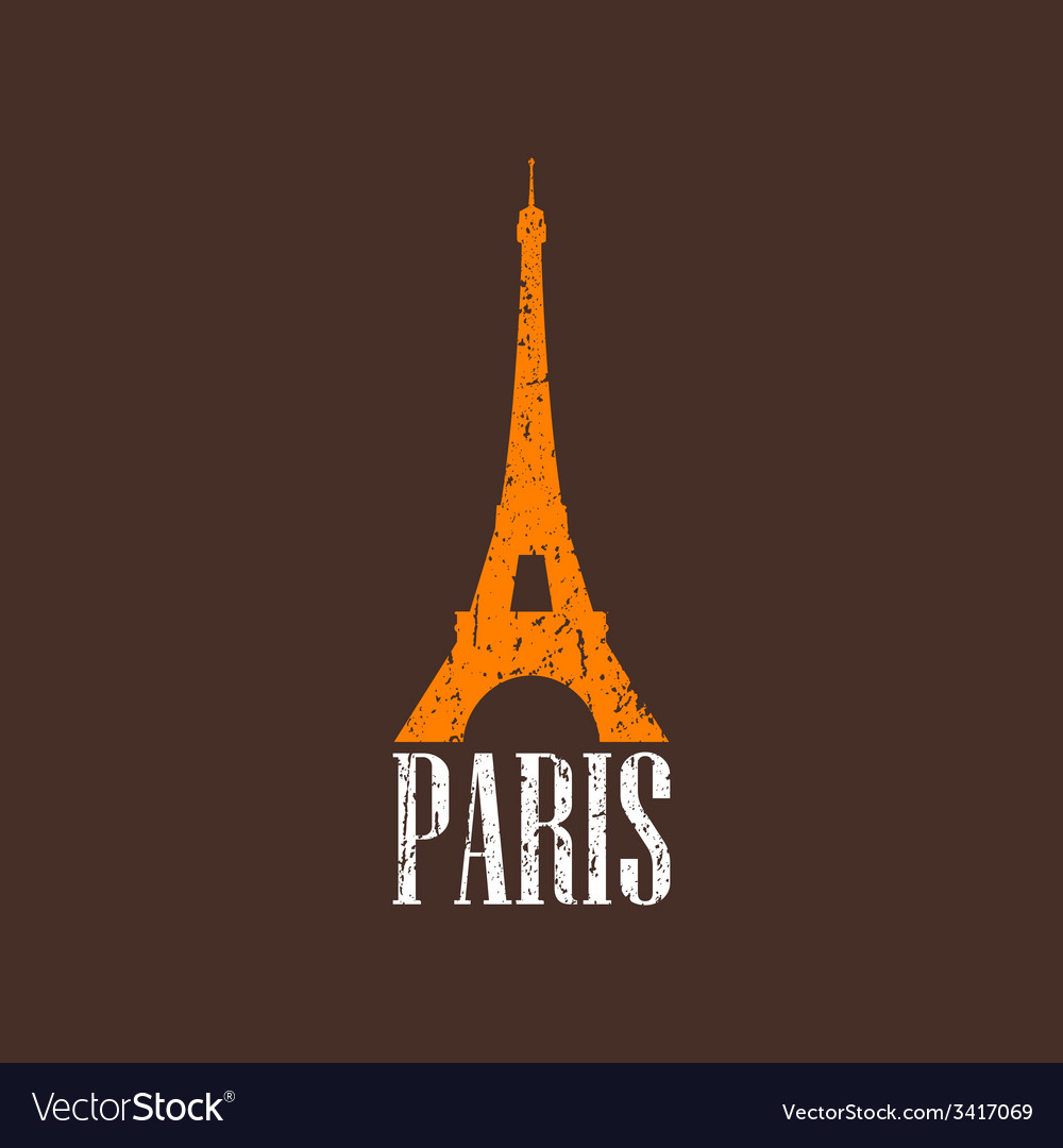Vintage with eiffel tower vector | Price: 1 Credit (USD $1)