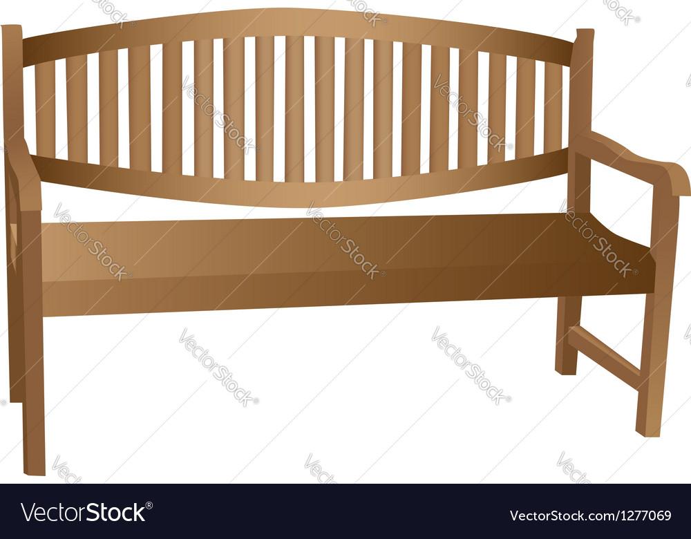 Wooden bench vector | Price: 1 Credit (USD $1)