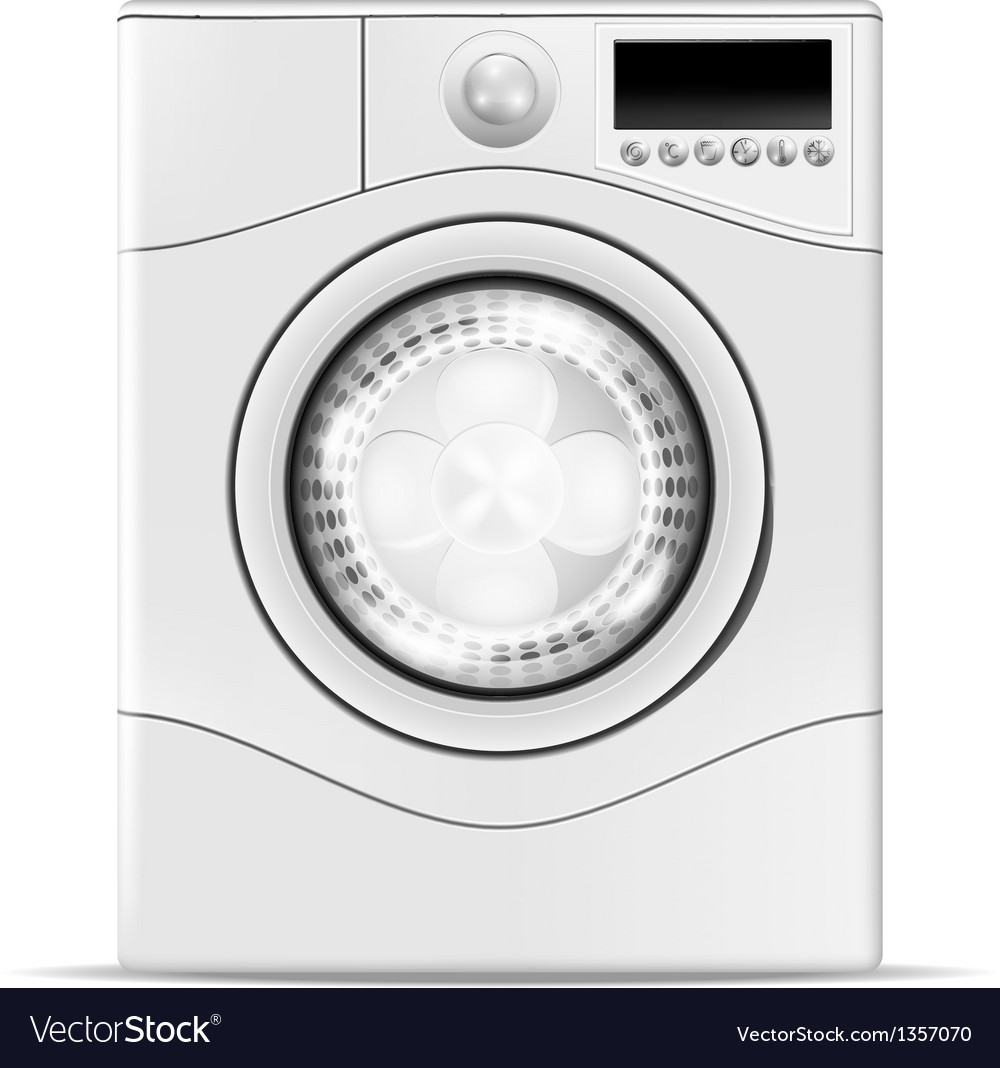 A realistic washing machine vector | Price: 1 Credit (USD $1)