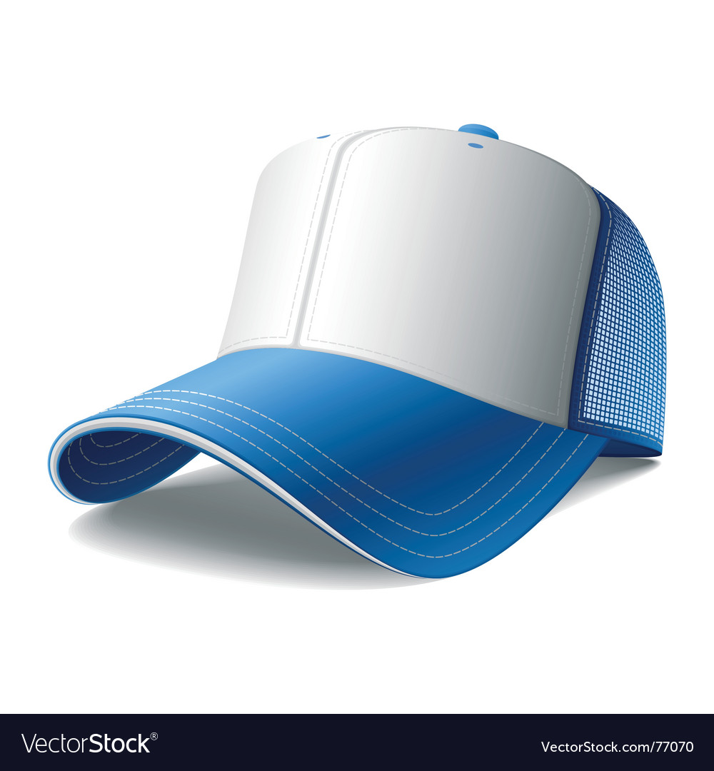 Blue cap vector | Price: 1 Credit (USD $1)