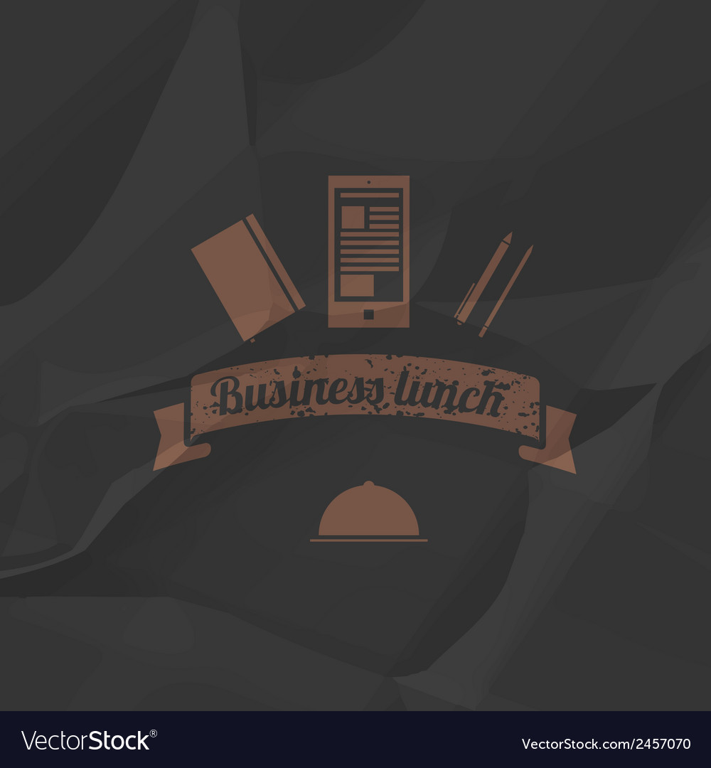 Business menu simple flat style vector | Price: 1 Credit (USD $1)