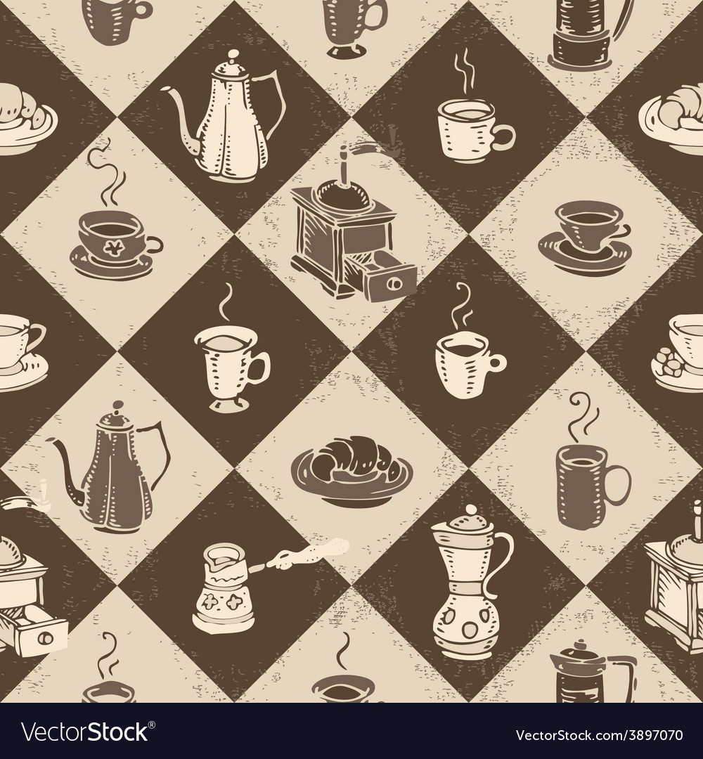Caffe pattern vector | Price: 1 Credit (USD $1)