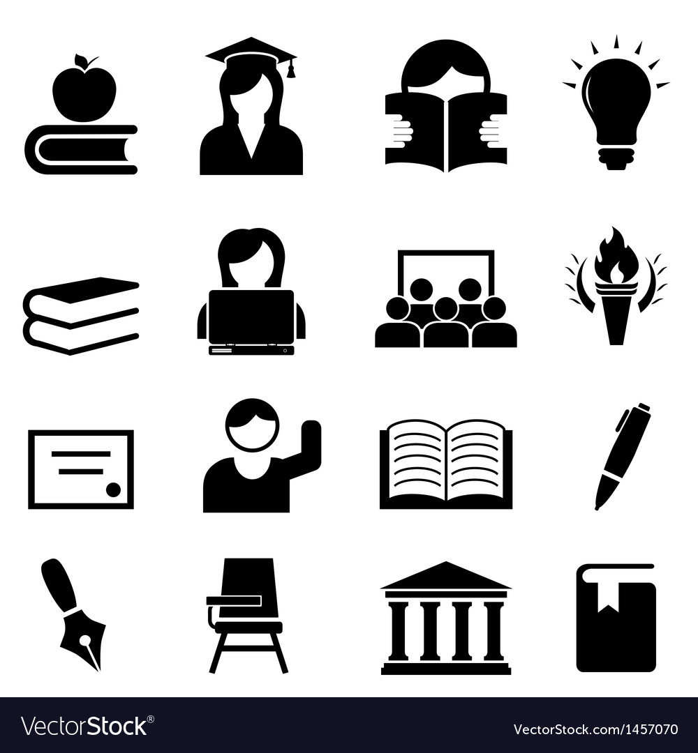 College icons vector | Price: 1 Credit (USD $1)