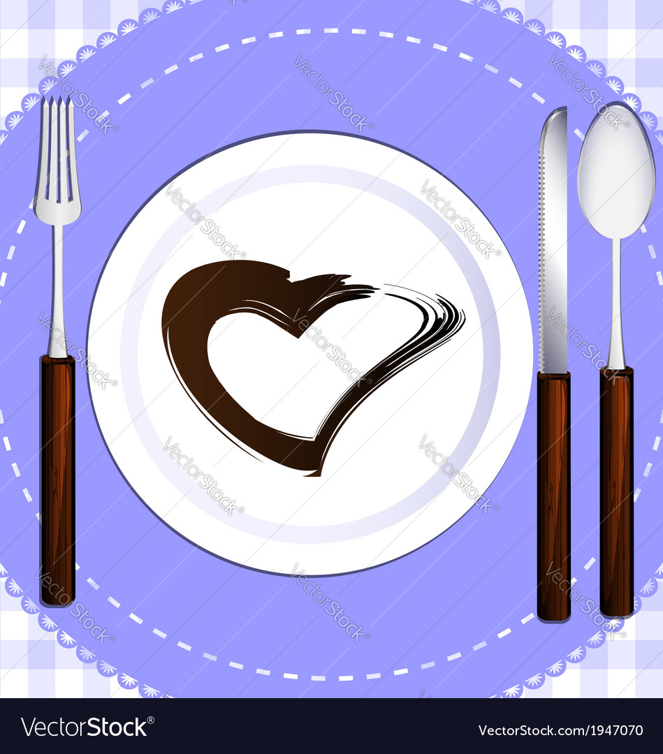 Cutlery and plate vector | Price: 1 Credit (USD $1)