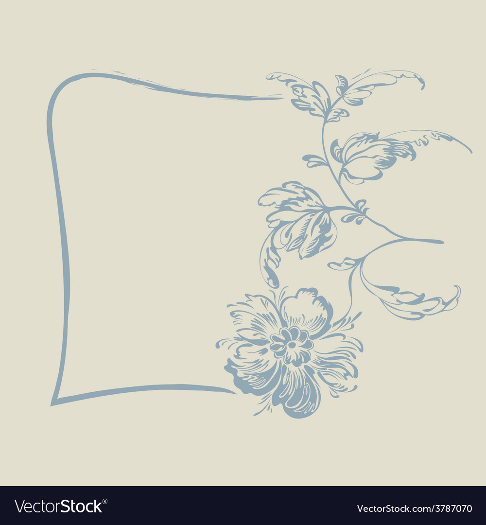 Frame fancy flower vector | Price: 1 Credit (USD $1)