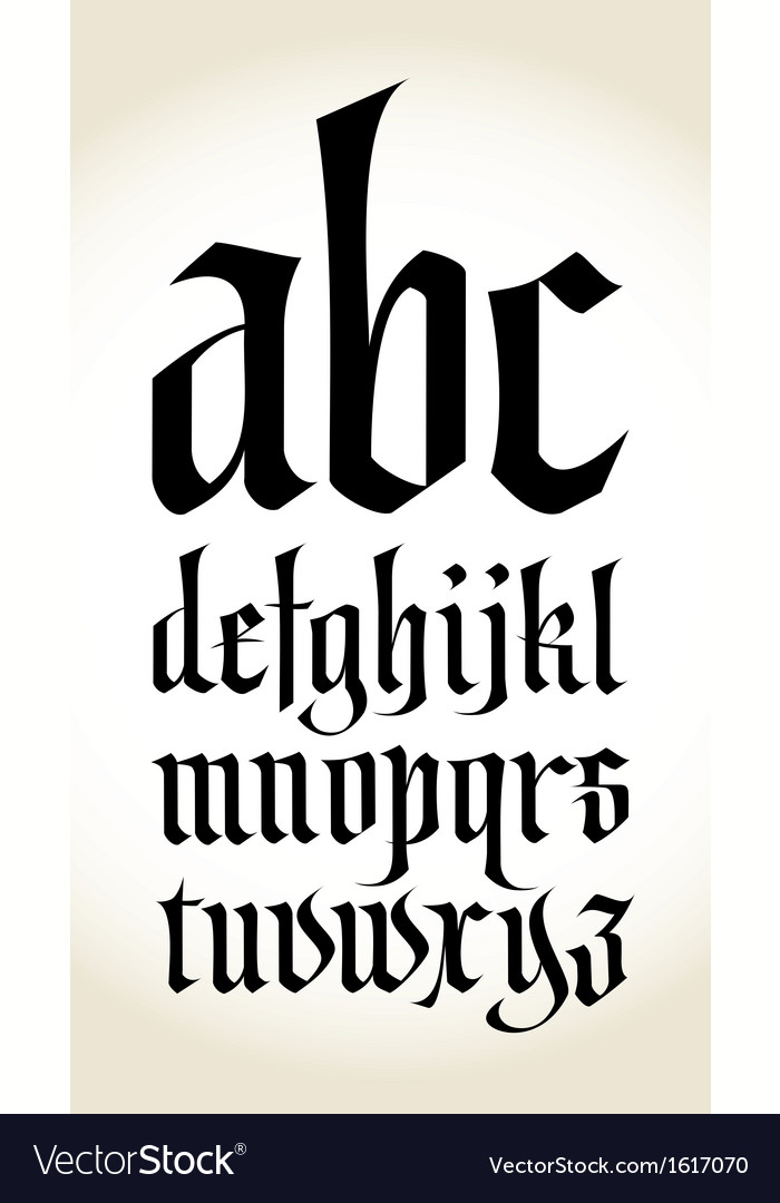 Gothic font alphabet vector | Price: 1 Credit (USD $1)