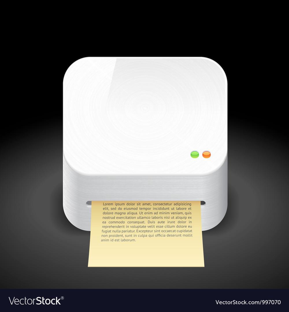 Icon for printer vector | Price: 3 Credit (USD $3)