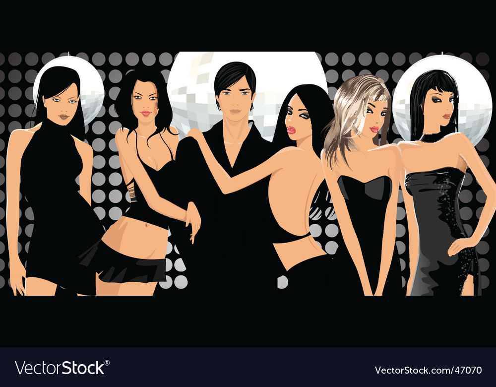 Party people vector | Price: 5 Credit (USD $5)