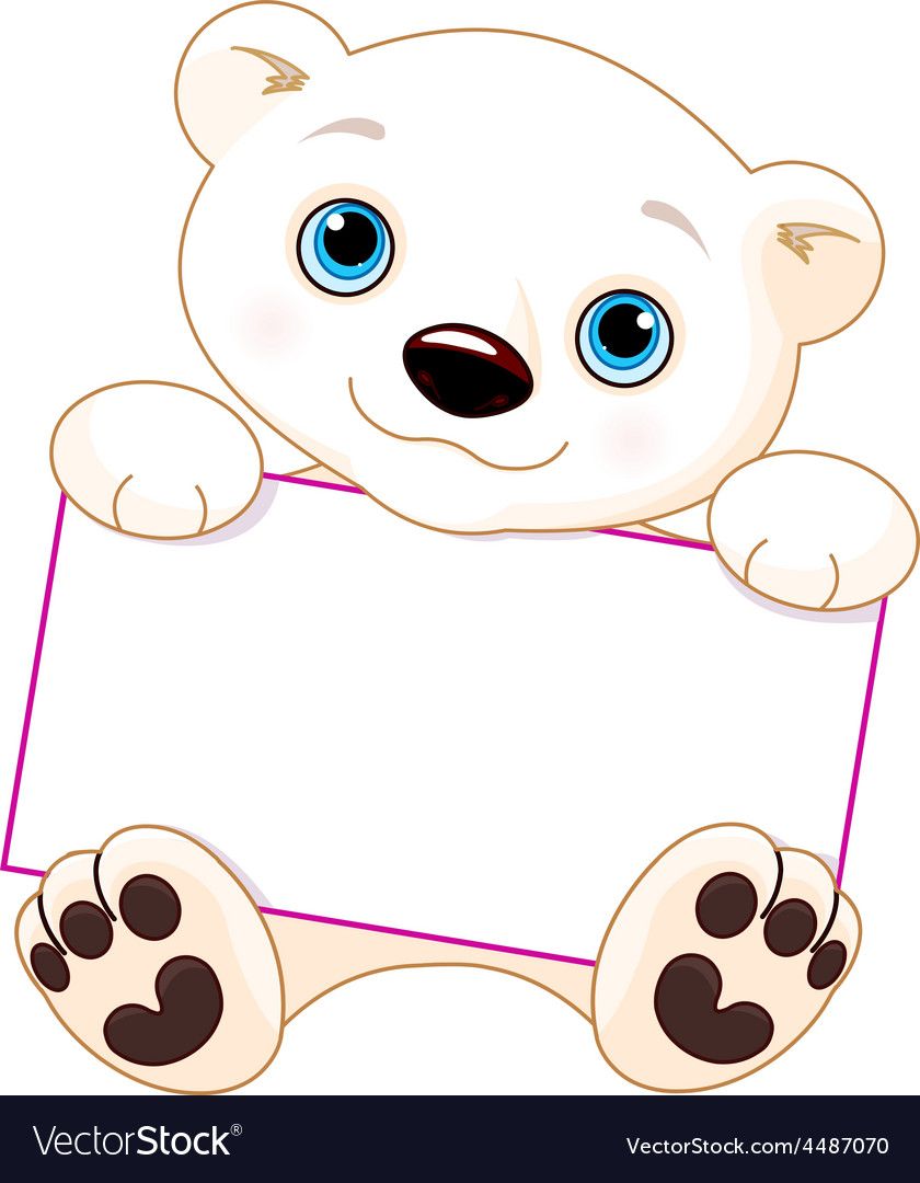 Polar bear sign vector | Price: 3 Credit (USD $3)