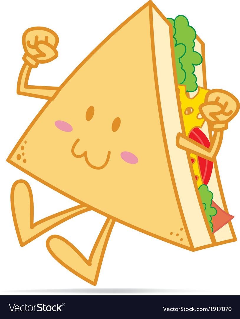 Smile cute sandwich vector | Price: 1 Credit (USD $1)