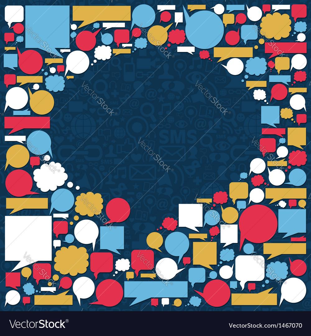 Social media talk bubble texture vector | Price: 1 Credit (USD $1)