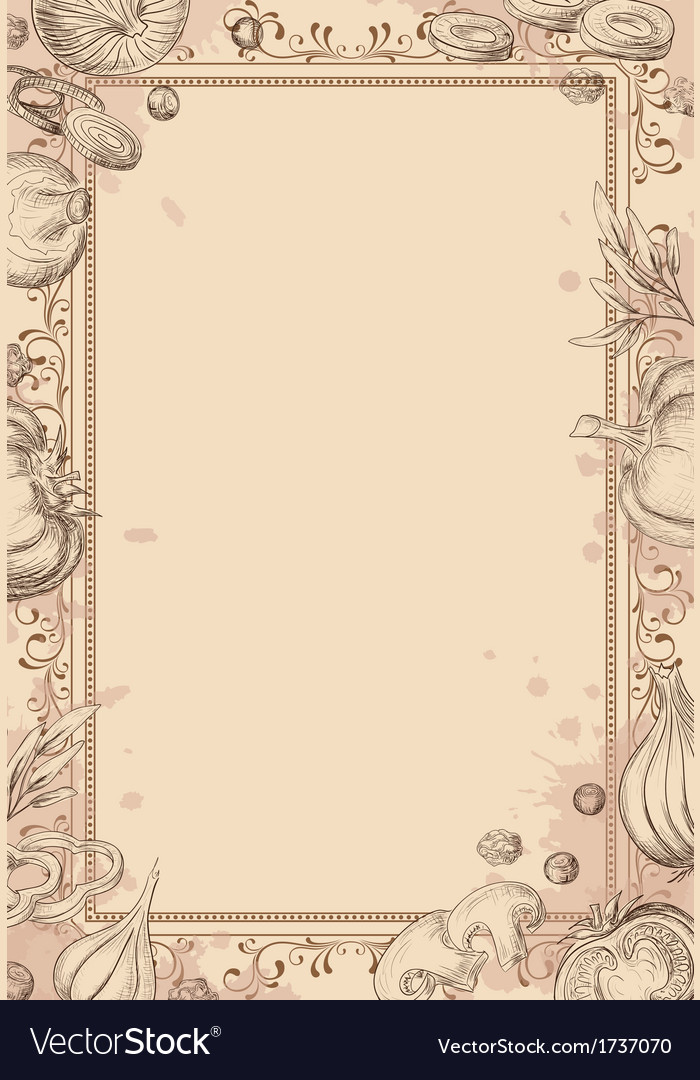 Vintage background with hand drawn vegetables vector | Price: 1 Credit (USD $1)