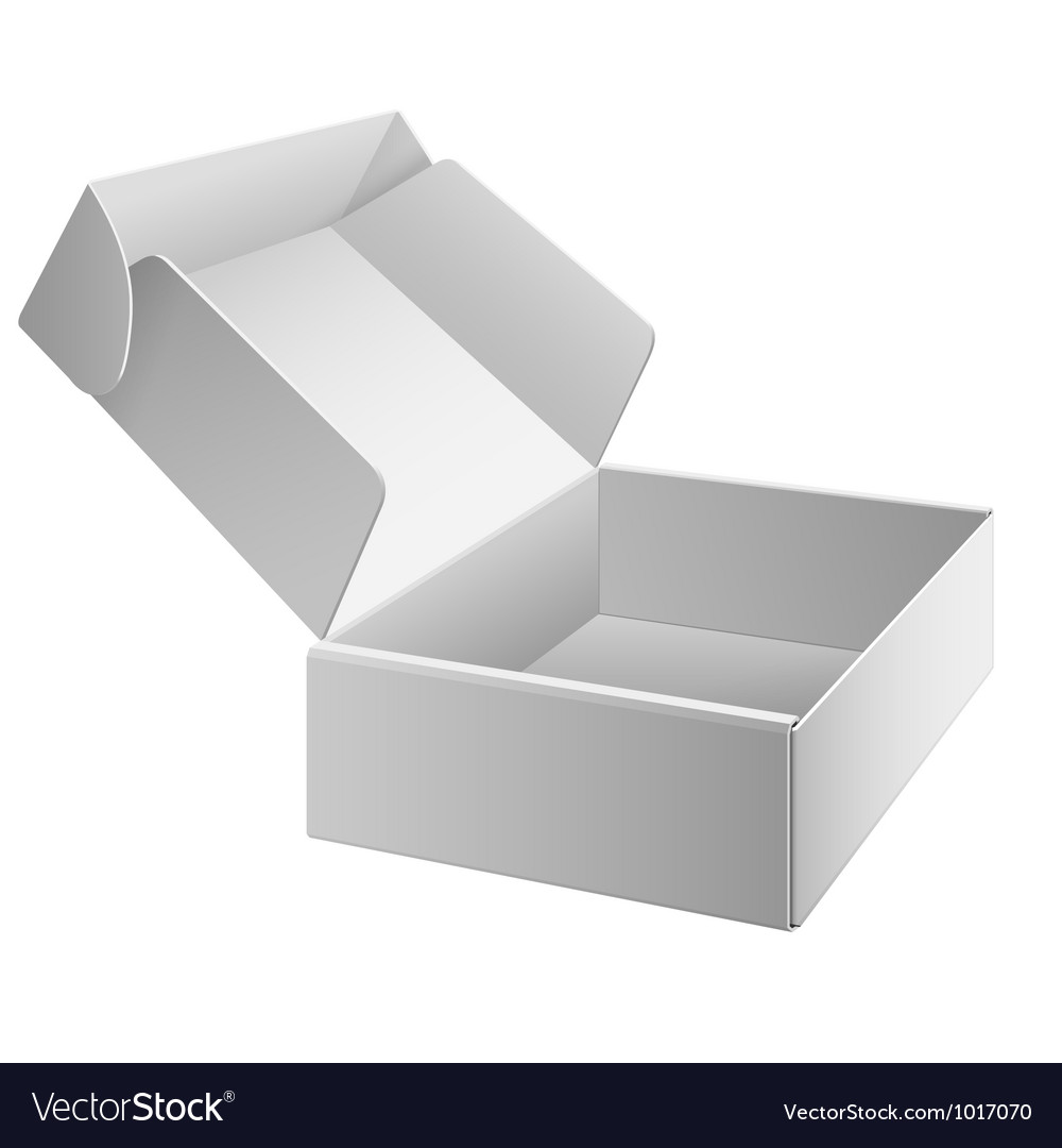 White package box opened for electronic device vector | Price: 1 Credit (USD $1)