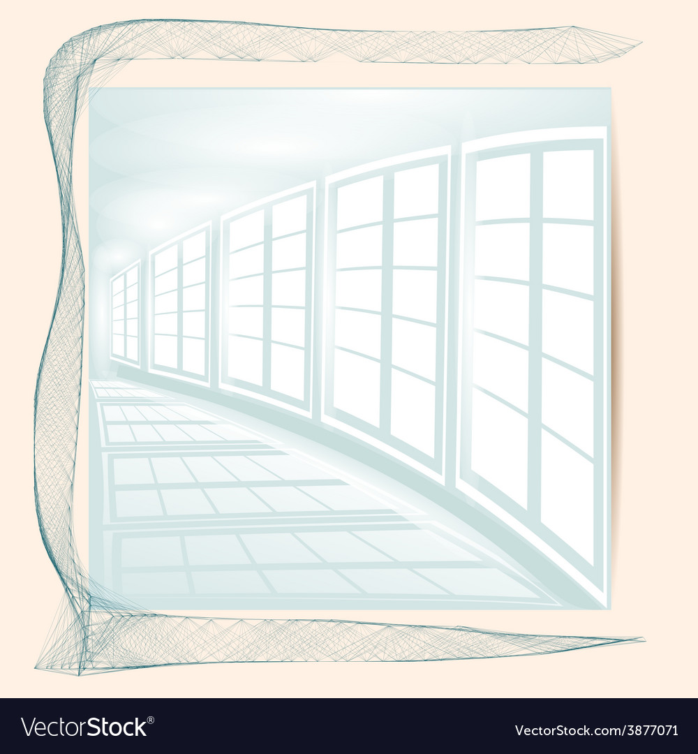 Abstract white corridor vector | Price: 1 Credit (USD $1)