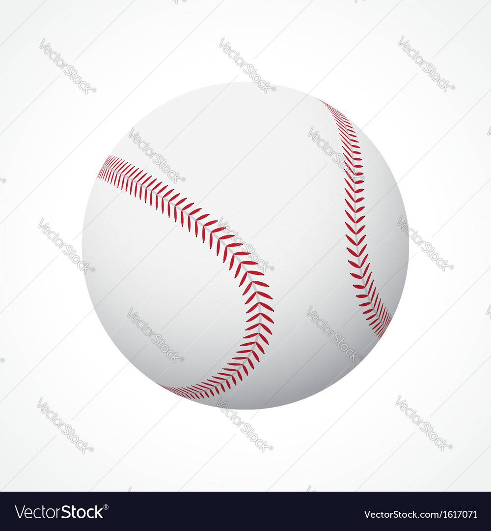 Baseball ball vector | Price: 3 Credit (USD $3)