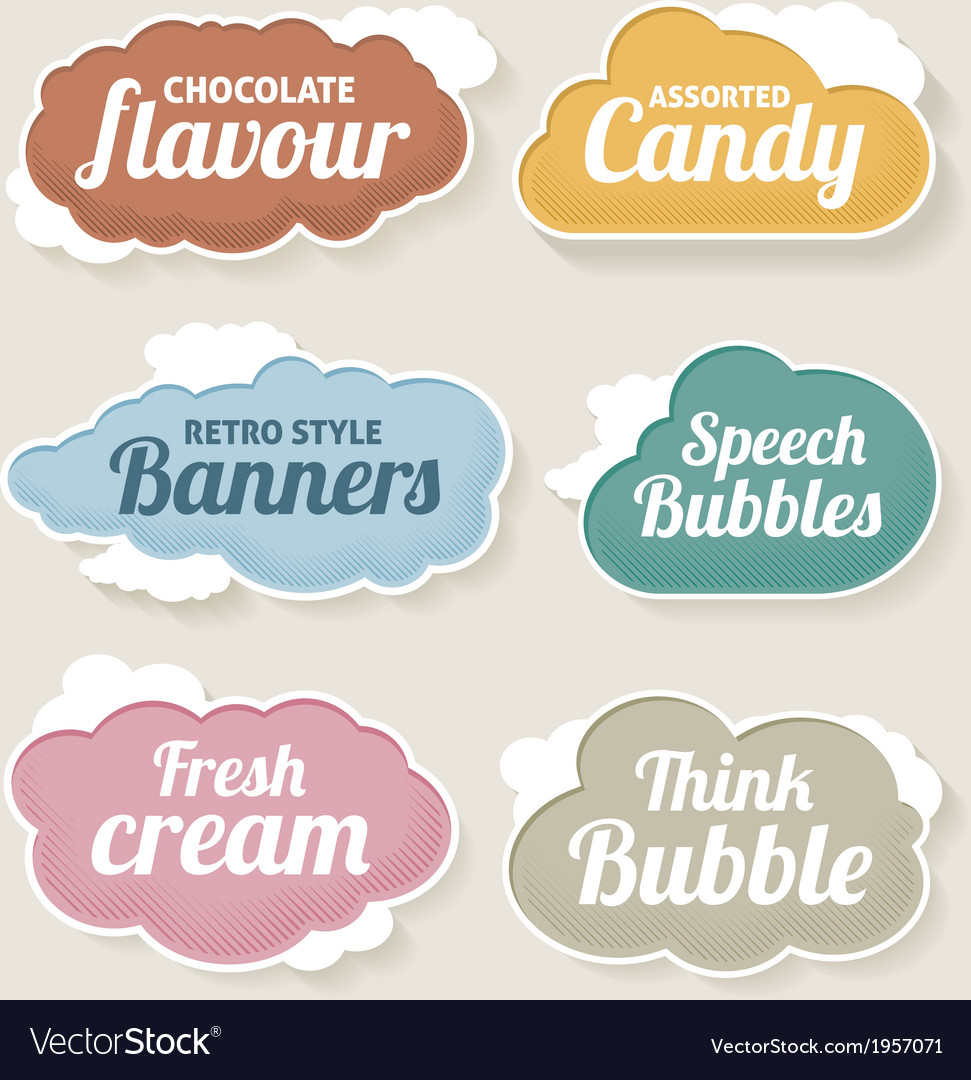 Cloud speech and thought bubbles vector | Price: 1 Credit (USD $1)
