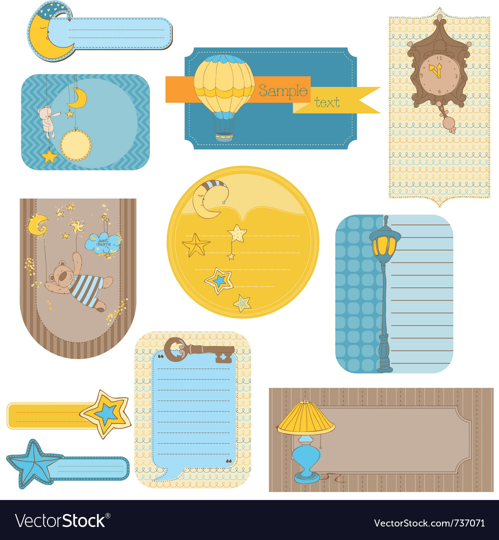 Design elements for baby scrapbook - sweet dreams vector | Price: 1 Credit (USD $1)