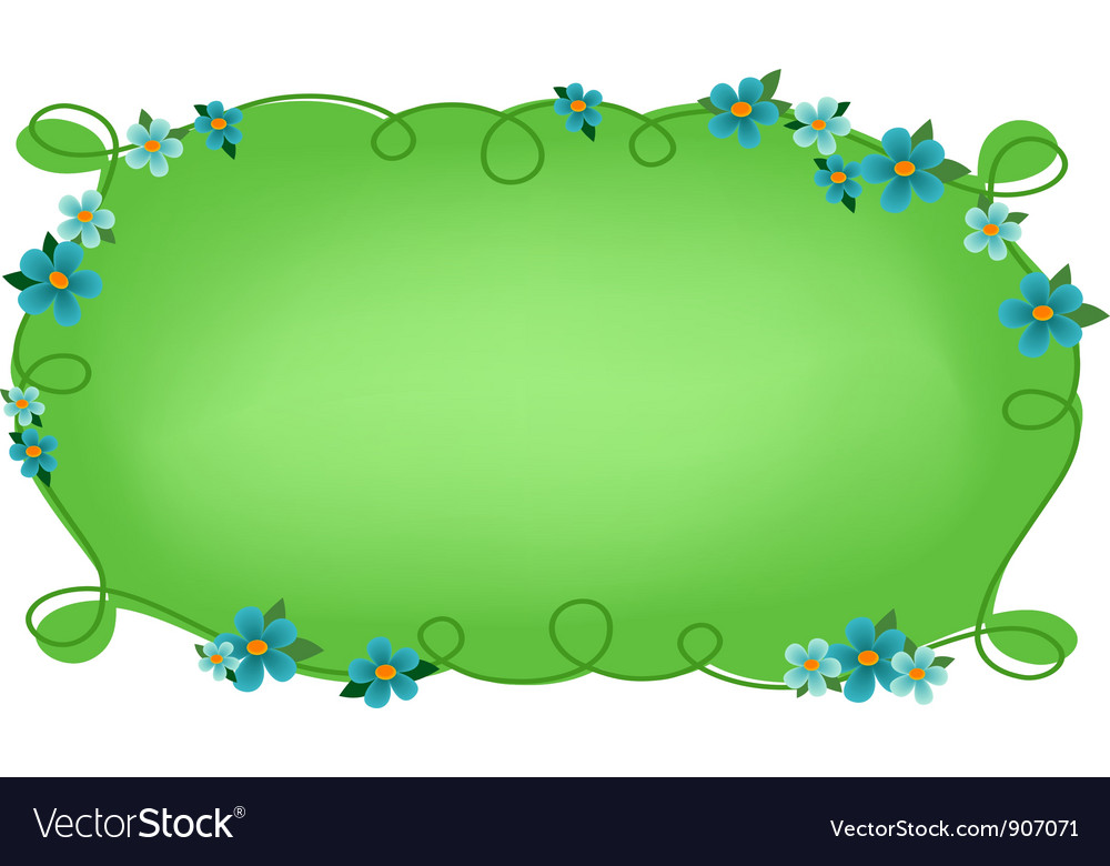 Floral frame or vignette vector | Price: 1 Credit (USD $1)