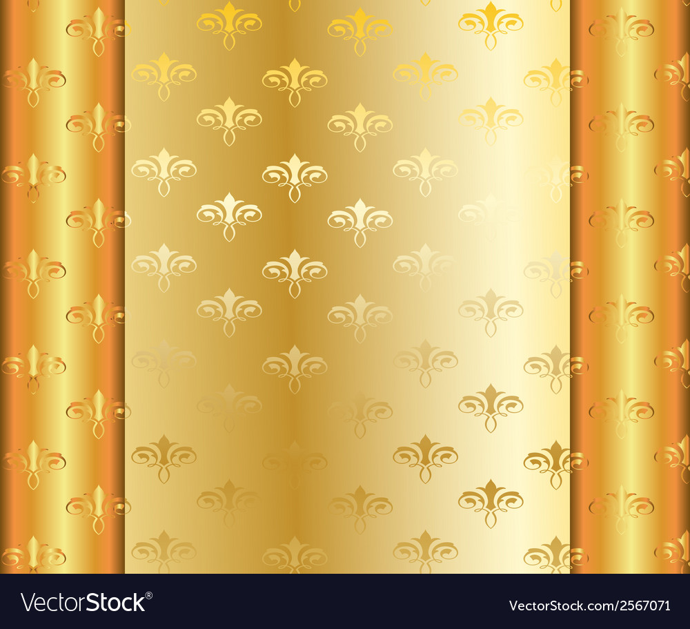 Gold pattern with gradient vector   Price: 1 Credit (USD $1)