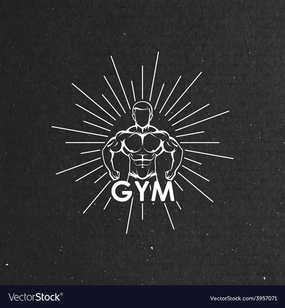Muscled man body silhouette vector   Price: 1 Credit (USD $1)
