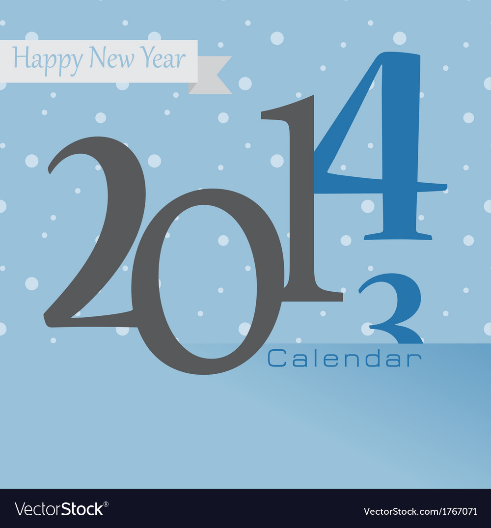 New year greetings card of 2014 happy holidays vector | Price: 1 Credit (USD $1)