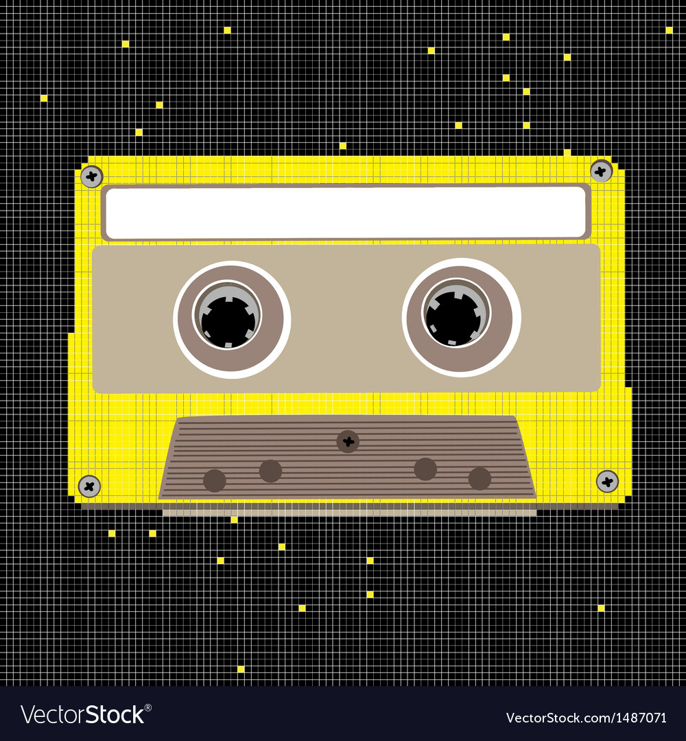 Pixel art cassette vector | Price: 1 Credit (USD $1)