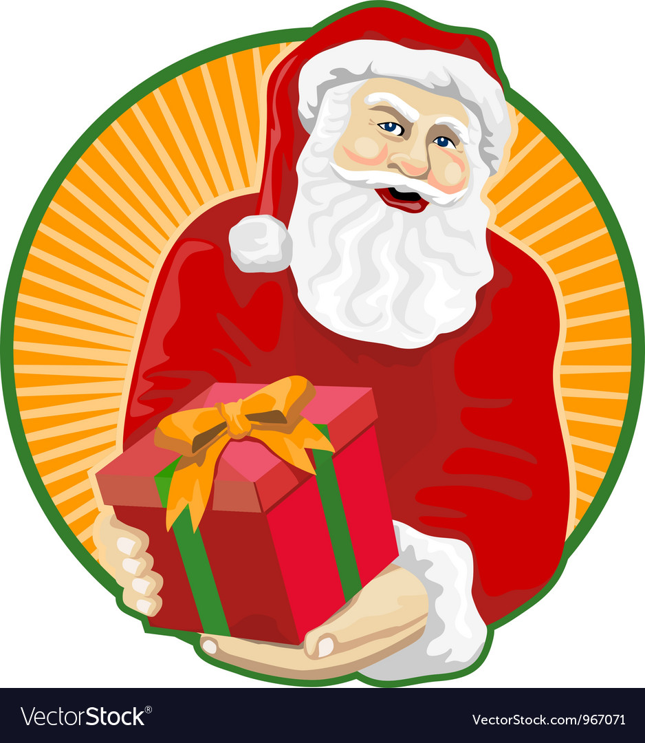 Santa claus father christmas retro vector | Price: 1 Credit (USD $1)