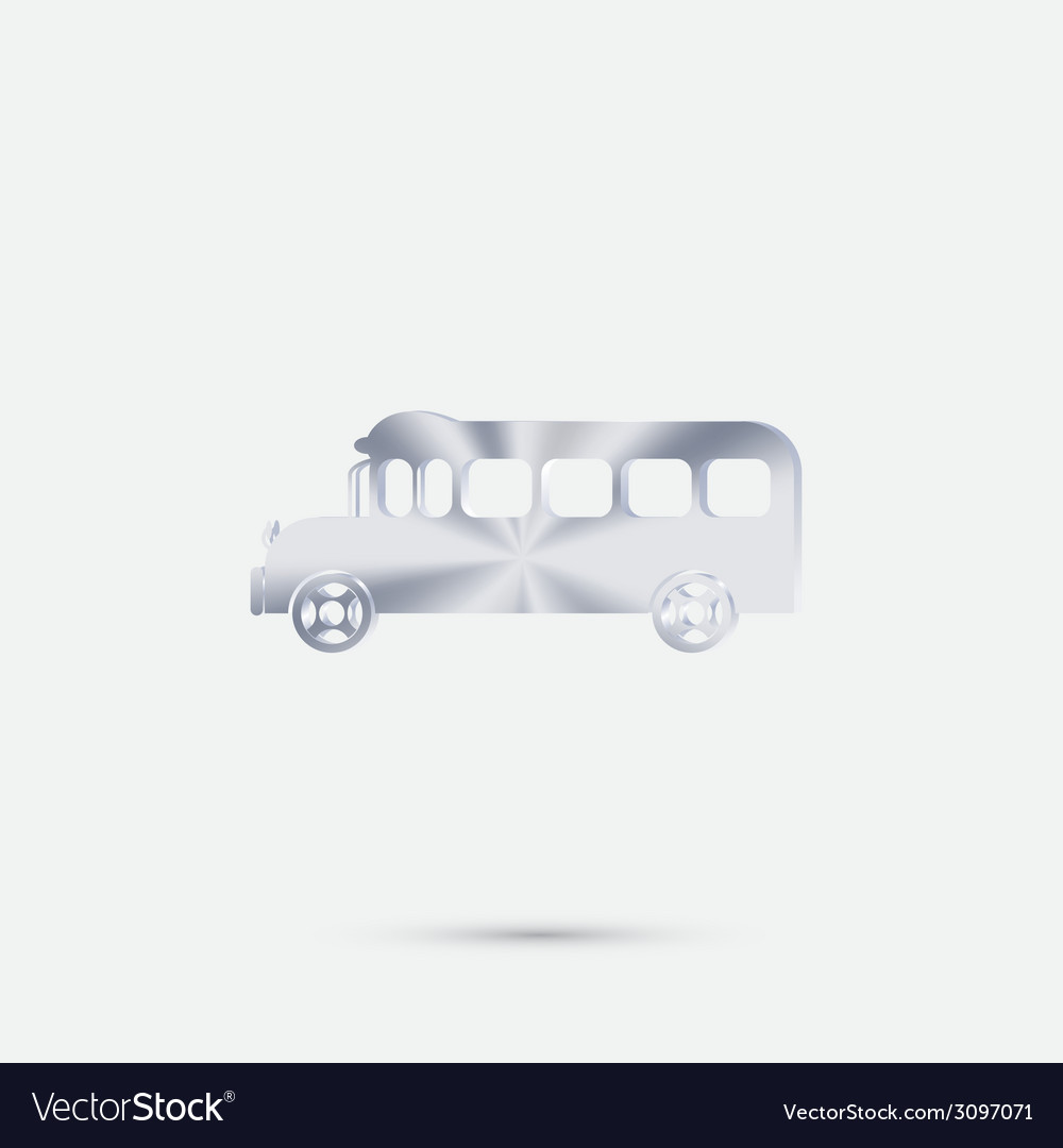 School bus symbol study icon transport vector | Price: 1 Credit (USD $1)