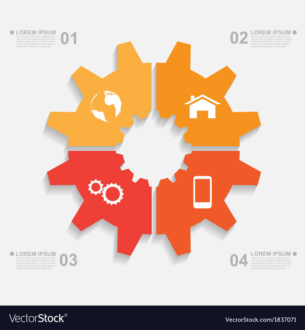 Sliced gear infographic vector | Price: 1 Credit (USD $1)