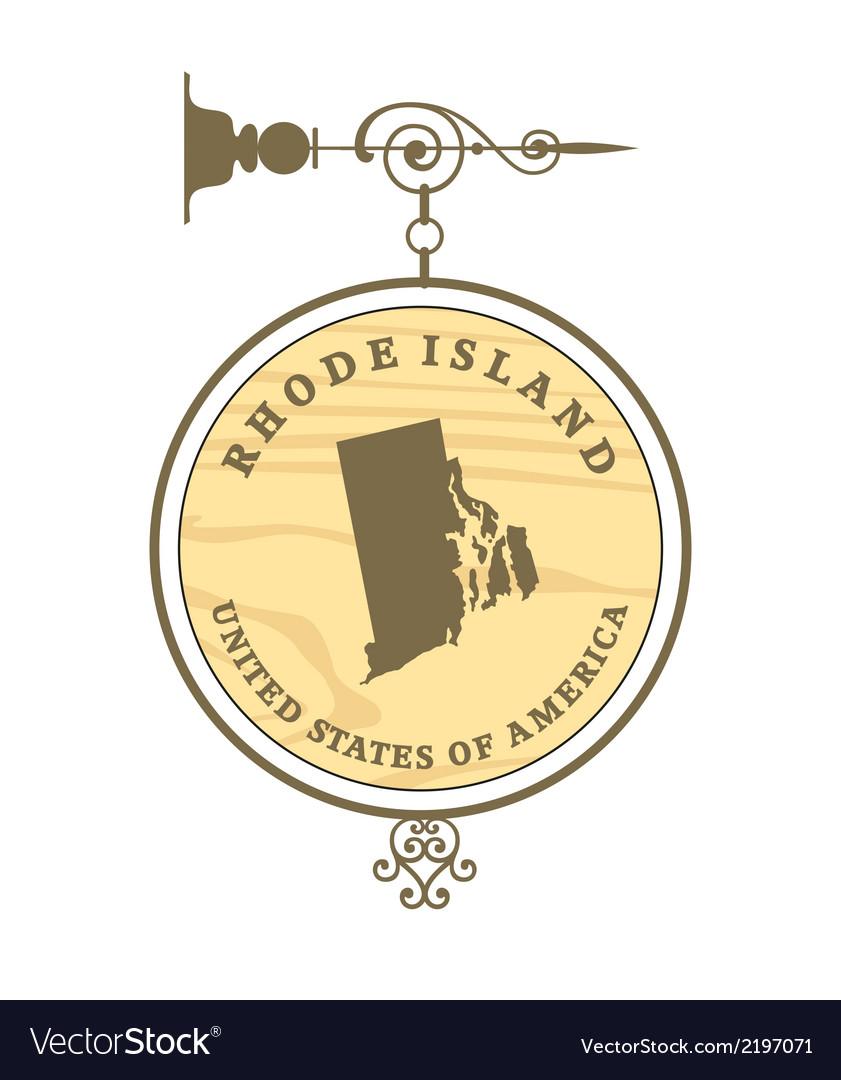 Vintage label rhode island vector | Price: 1 Credit (USD $1)