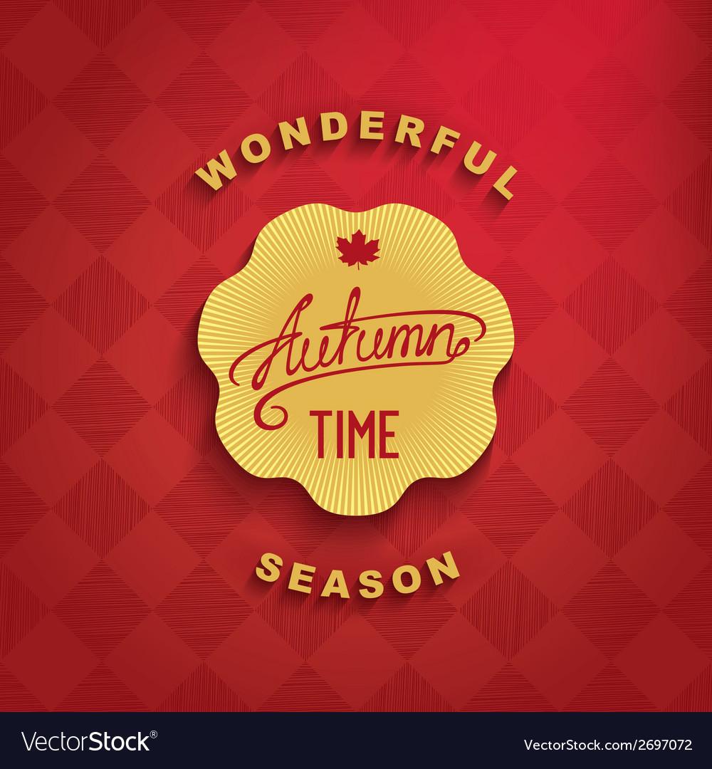 Autumn - wonderful time vector | Price: 1 Credit (USD $1)