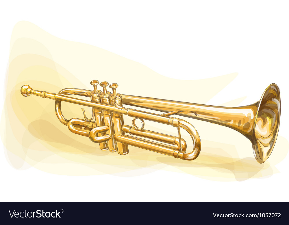 Brass trumpet vector | Price: 1 Credit (USD $1)