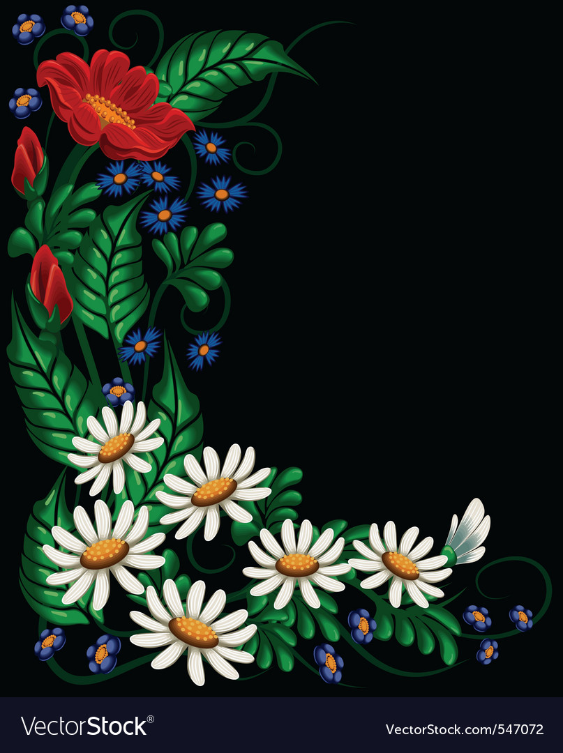 Floral composition vector | Price: 3 Credit (USD $3)