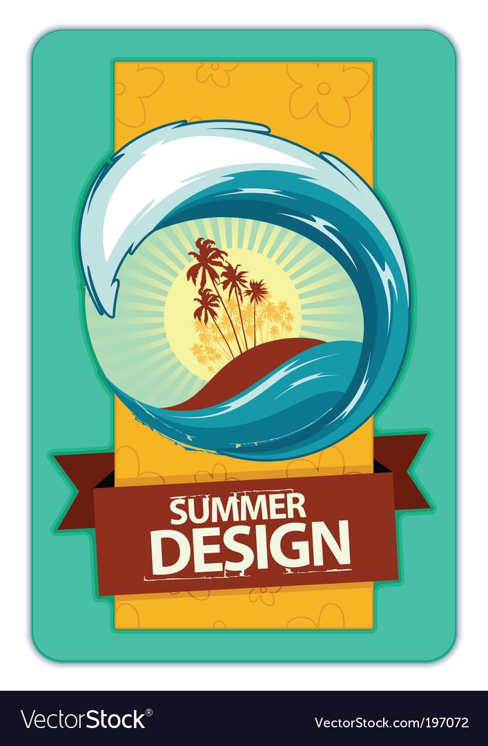 Grunge summer poster vector | Price: 3 Credit (USD $3)