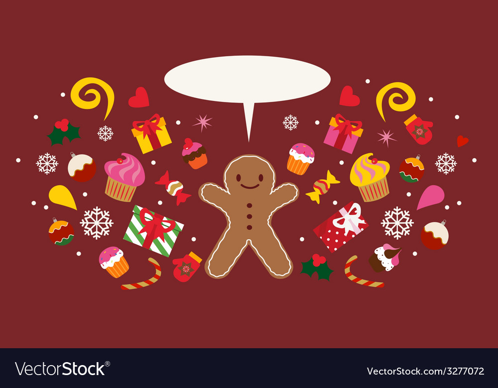 Holiday design with christmas cookie vector   Price: 1 Credit (USD $1)