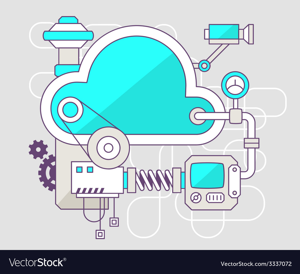 Industrial of the mechanism of cloud color vector | Price: 3 Credit (USD $3)