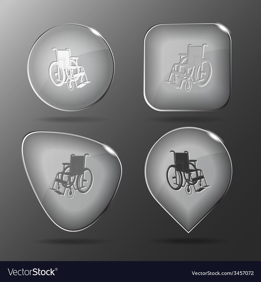 Invalid chair glass buttons vector | Price: 1 Credit (USD $1)