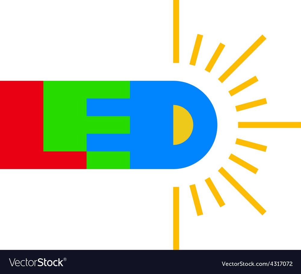 Led technology logo vector | Price: 1 Credit (USD $1)