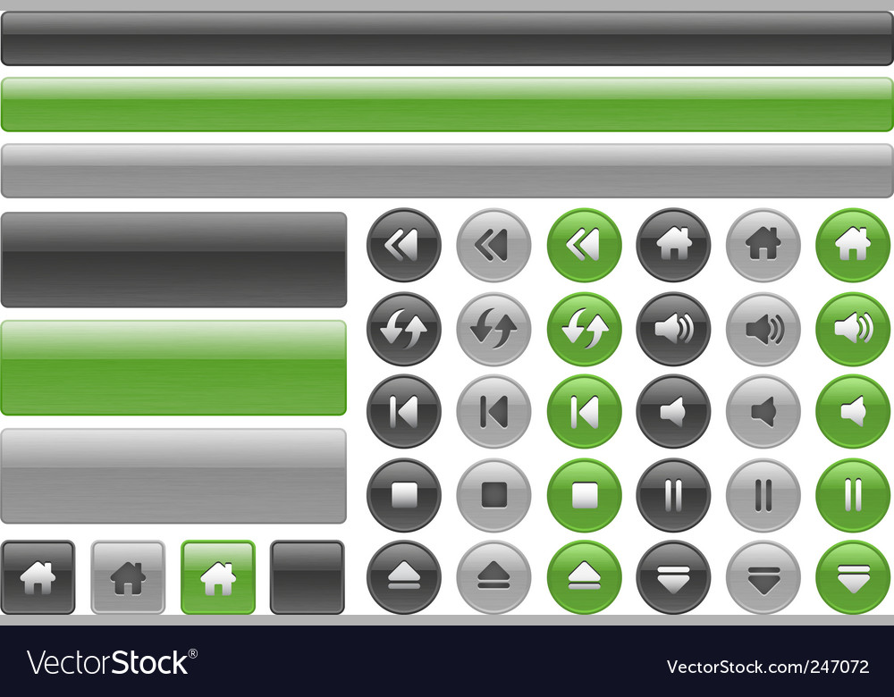 Music web buttons vector | Price: 1 Credit (USD $1)