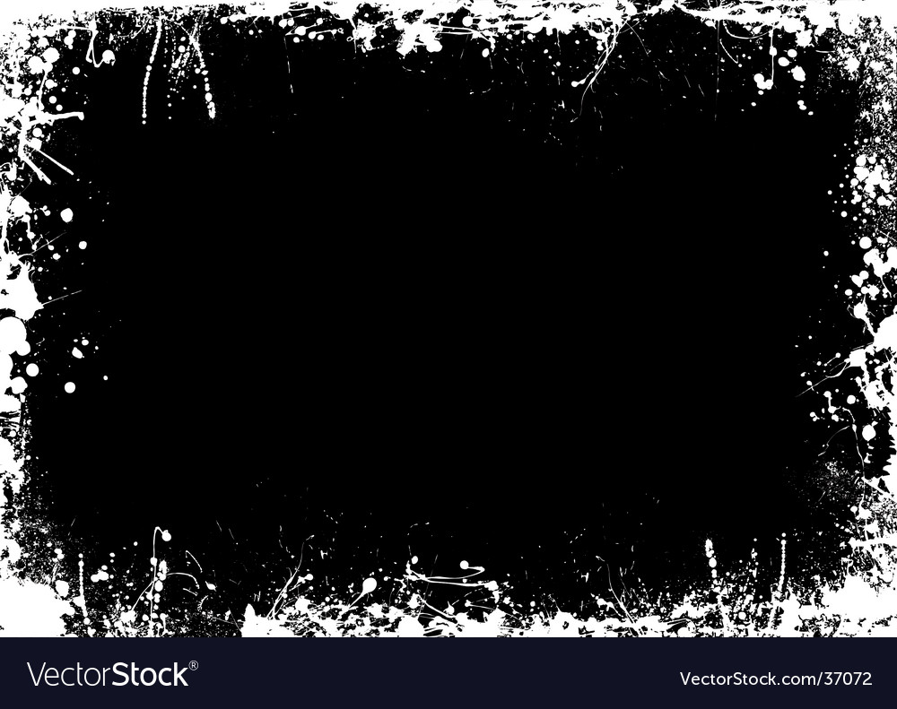 Negative splat border vector | Price: 1 Credit (USD $1)