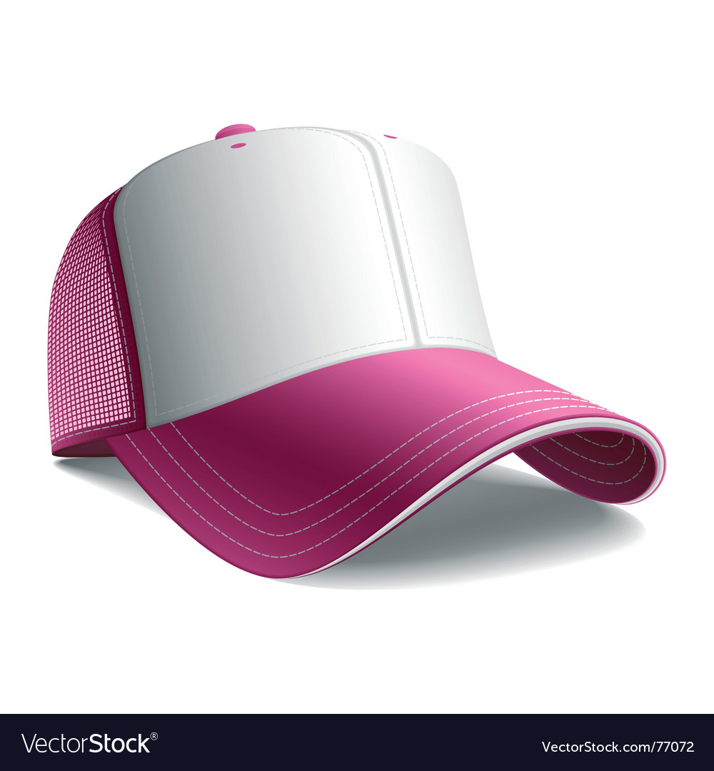 Pink cap vector | Price: 1 Credit (USD $1)