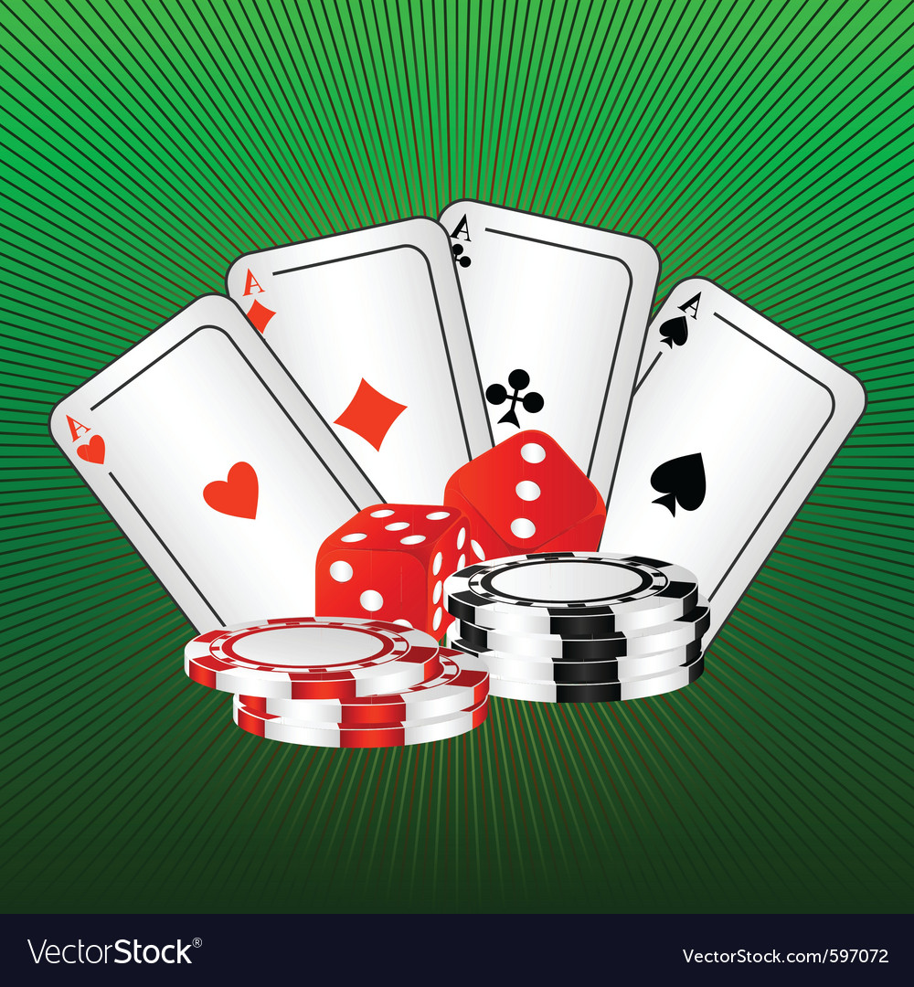 Playing cards and dice vector | Price: 1 Credit (USD $1)