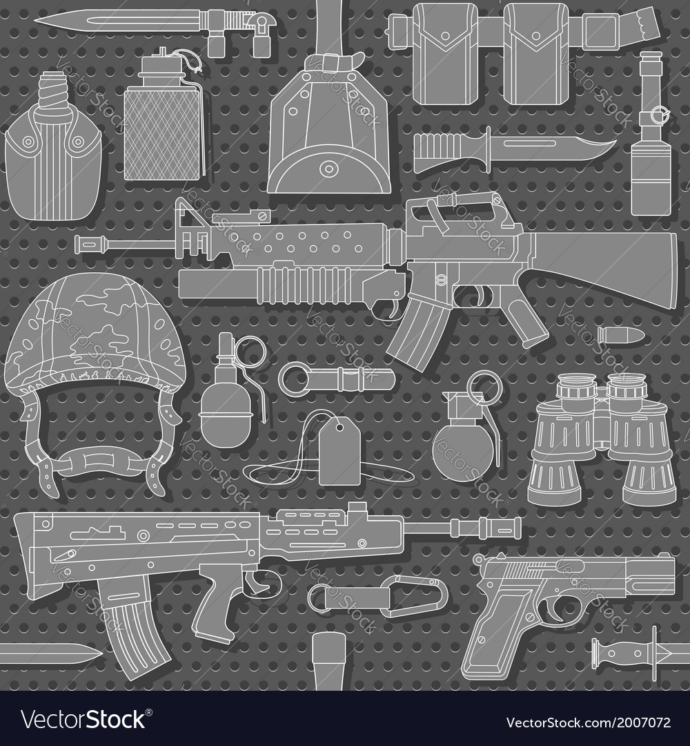 Seamless military pattern 03 vector | Price: 1 Credit (USD $1)